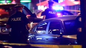 Police work at the scene of a mass casualty incident in Toronto on Sunday, July 22, 2018. THE CANADIAN PRESS/Frank Gunn