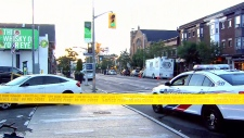 Scene of Toronto Greektown shooting