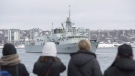Family and friends look on as HMCS St. John's heads to the Mediterranean Sea for a deployment with NATO forces, in Halifax on Tuesday, Jan.16, 2018. HMCS St. John's is expected to return to its home port of Halifax, N.S. on Monday after a six-month deployment in the Baltic Sea, Northern Atlantic Ocean, and the Mediterranean Sea. THE CANADIAN PRESS/Andrew Vaughan