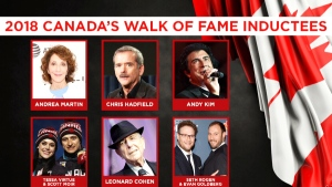 And the 2018 Canada's Walk of Fame inductees are…