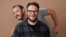 """Evan Goldberg, left, and Seth Rogen, co-writers and co-producers of """"Sausage Party,"""" pose together for a portrait in Beverly Hills, Calif. on Aug. 2, 2016. MTHE CANADIAN PRESS/AP, Chris Pizzello, Invision"""