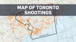 A 2018 map of shootings in Toronto