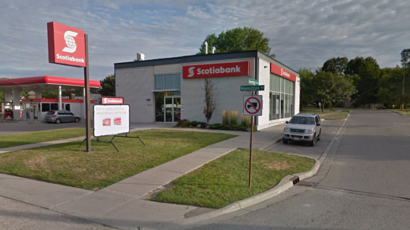 Scotiabank at Hamilton Road and Highbury Ave. in London Ont. (Google)
