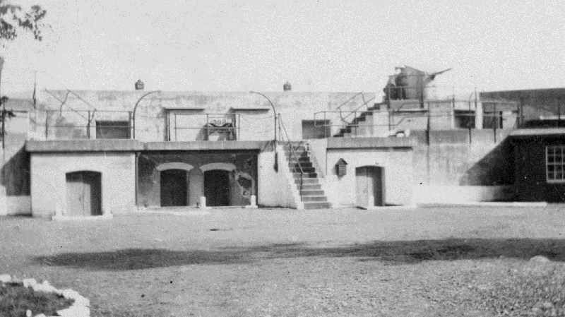 A historic photo of Belmont Battery at Fort Rodd Hill, which was updated during the Second World War. July 24, 2018.