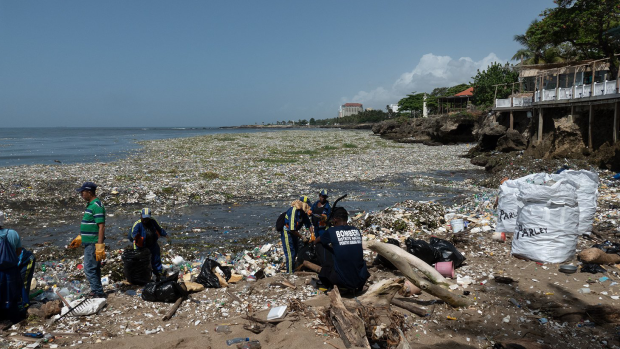Dominican garbage beach