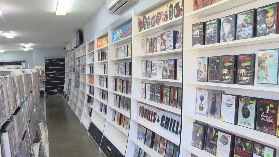 Gone Hollywood owner Kevin Dol says customers will be losing out on access to a wealth of movie knowledge when the store closes at the end of August. July 24, 2018. (CTV Vancouver Island)