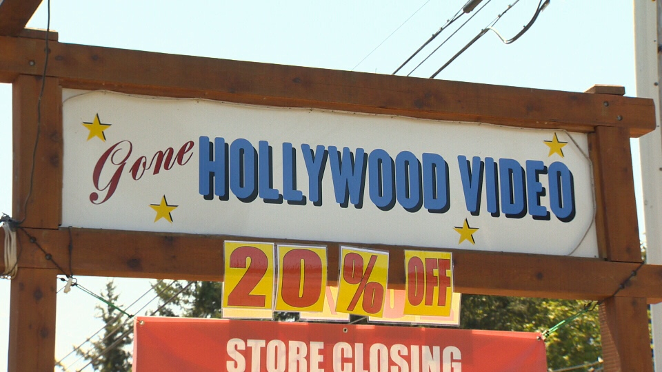 The Gone Hollywood video store in Comox is set to close its doors at the end of August – the final act of a store that opened 11 years ago. July 24, 2018. (CTV Vancouver Island)