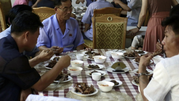 Dog meat meals in North Korea