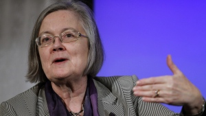 Lady Hale of the Supreme Court of the UK speaks at the National Association of Women Judges conference in Washington, Thursday, March 11, 2010.(AP Photo/Jose Luis Magana)