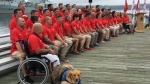 Canadian Invictus Games athletes gather for a photo in Halifax on Wednesday, July 25, 2018. THE CANADIAN PRESS/Michael MacDonald