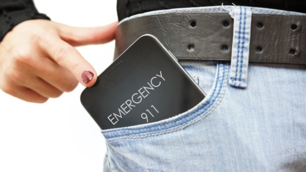 pocket dialing 911