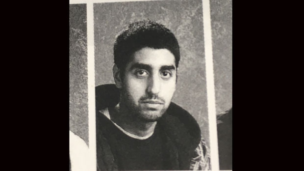 Faisal Hussain is seen in this Grade 12 yearbook photo.