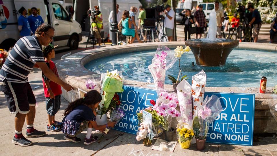 Memorial for Danforth shooting victims