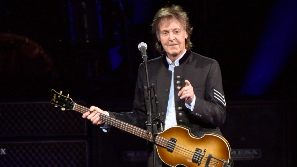 Paul McCartney performs on the One on One Tour at the Hollywood Casino Amphitheatre in Tinley Park, Ill., on July 26, 2017. THE CANADIAN PRESS/AP, Invision - Grabowski