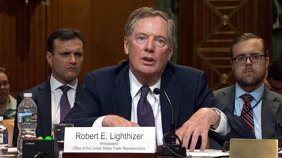 U.S. Trade Representative Robert Lighthizer appears at a subcommittee of the U.S. Senate Committee on Appropriations, in Washington, July 26, 2018.