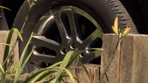 A truck's chrome rim, along with other reflective surfaces, could spark a fire in hot, dry conditions. (CTV)