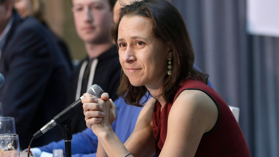 In this Feb. 20 2013 file photo, 23andMe CEO Anne Wojcicki speaks at  UCSF's Mission Bay campus in San Francisco.  (AP Photo/Jeff Chiu)