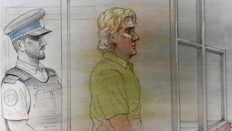 Lombray Ball appears in court on July 27, 2018. (John Mantha)