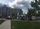 Fire crews respond to a blaze at a St. Clair College residence on Friday, July 27, 2018. (Ricardo Veneza / CTV Windsor)