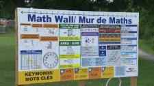 Math wall created by 14-year-old Lazar Paroski