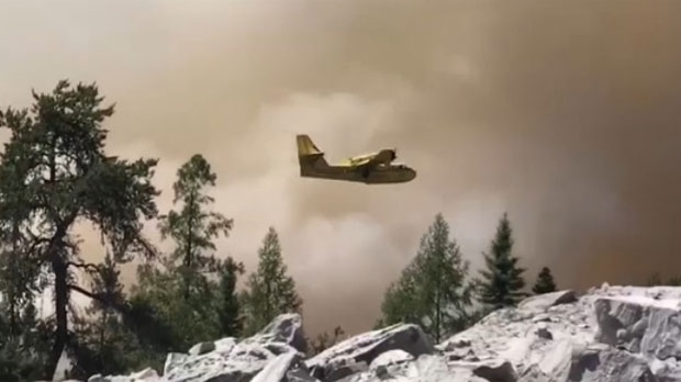 Water bombers are helping fight about 200 northern Ontario wildfires.