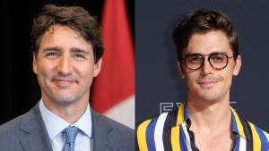 Prime Minister Justin Trudeau and 'Queer Eye' star Antoni Porowski are seen in this composite image.