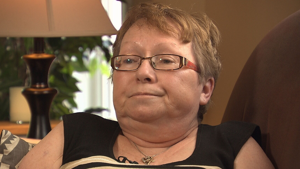 Francine Wright of Kanata, Ont. says that she's been in constant pain ever since an operation for a surgical mesh implant.