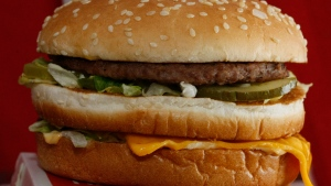 This Dec. 29, 2009 file photo shows a Big Mac hamburger at a McDonald's restaurant in North Huntingdon, Pa. The fast food restaurant is celebrating the sandwich's 50th anniversary in 2018. (AP Photo/Keith Srakocic)