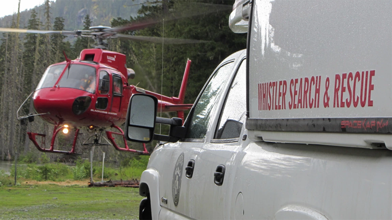 Whistler Search and Rescue is shown in this file photo.