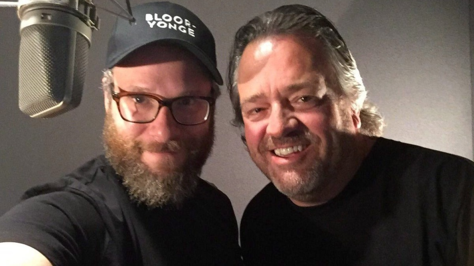Actor Seth Rogen and Toronto Transit Commission spokesman Brad Ross are shown in a photo from Ross's Twitter account, @BradTTC. Rogen may be a guest voice on the TTC. THE CANADIAN PRESS/HO-Twitter-@BradTTC