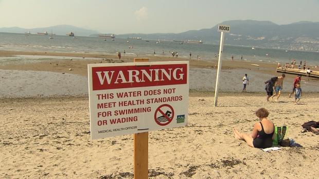 High levels of E. coli prompt swim warning