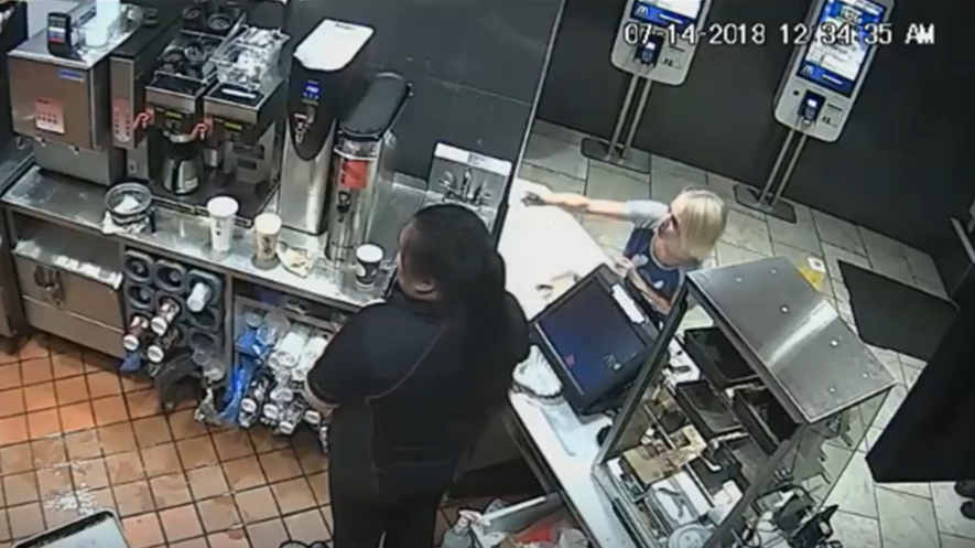 Staff told officers that a customer became verbally abusive with employees after they mixed up her food order. (VicPD)