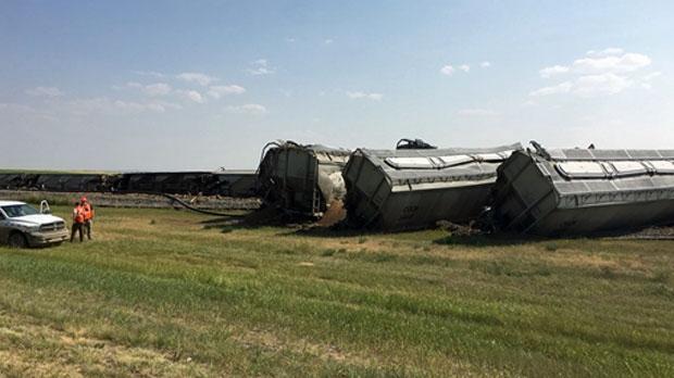 No injuries in train derailment in Lethbridge County