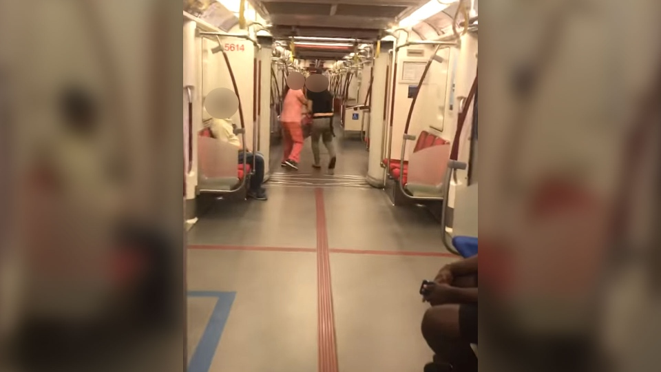 Toronto police say they're investigating a robbery that stemmed from an online video which shows a seemingly racially-charged interaction on a TTC subway train.