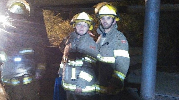 Sahtlam volunteer firefighter Tony Jackson, right, died in an apparent accident on the Cowichan River over the weekend. (GoFundMe)