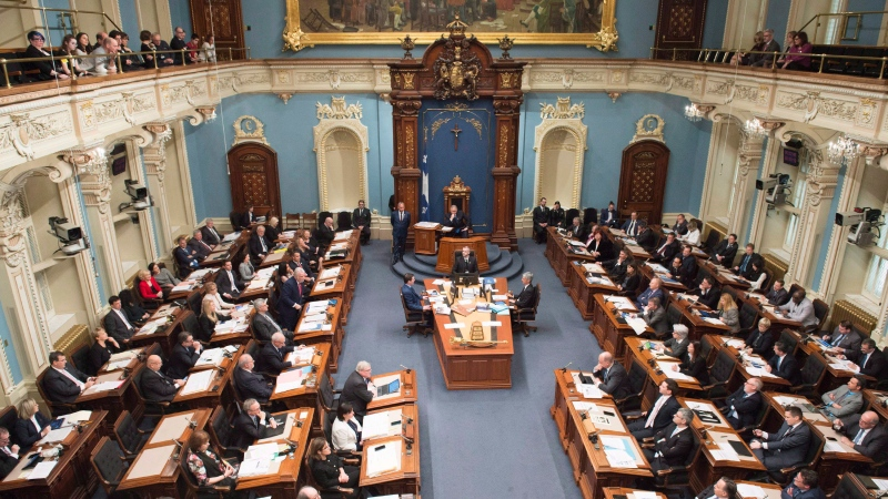 The National Assembly sits for question question period Tuesday, February 6, 2018 as the legislature resumes for its Spring session, in Quebec City. (THE CANADIAN PRESS/Jacques Boissinot)