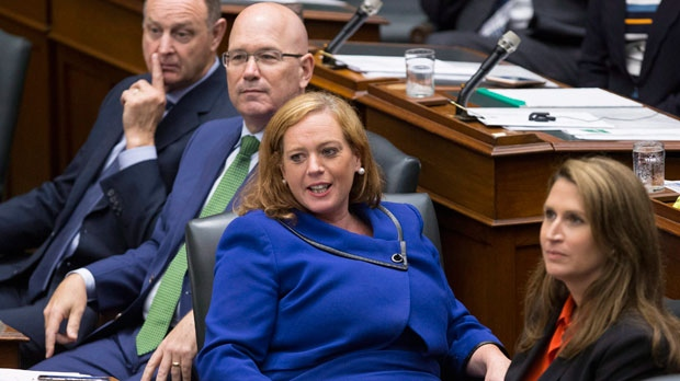 Ontario's Children, Community and Social Services Minister Lisa Macleod attends Question Period at Queen's Park, in Toronto on Tuesday, July 31, 2018. THE CANADIAN PRESS/Chris Young