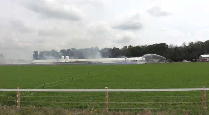 A chicken barn at Kraak Farms has been destroyed by fire.