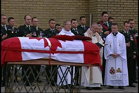 Funeral services for Private Alexandre Peloquin. (Brownsburg-Chatham, June 20, 2009)