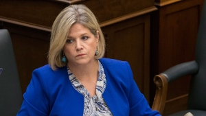 Andrea Horwath cleared of wrongdoing after being accused of pushing MPP | CTV News
