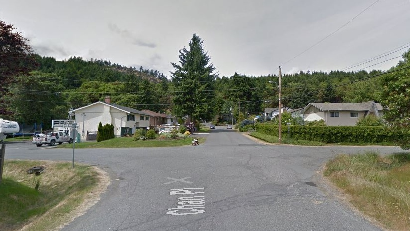 The intersection of Chan Place at Ronald Road in Langford is shown in this undated Google Maps image.