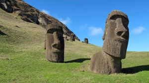 In this August 2012 file photo, statues of heads known as 'Moais' stand at Rano Raraku, the quarry on Easter Island, Chile. (AP Photo / Karen Schwartz)