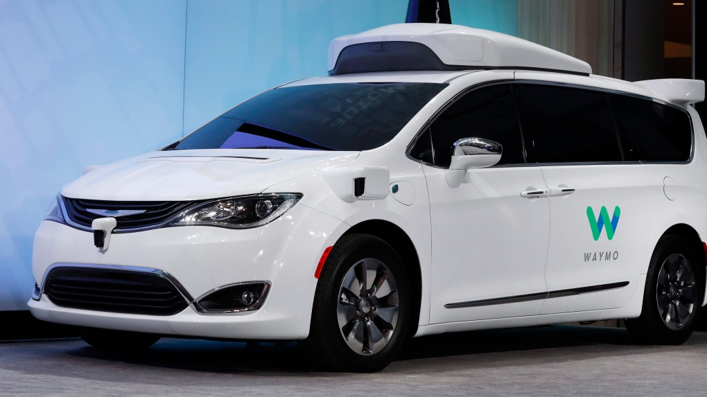 A Waymo Chrysler Pacifica hybrid