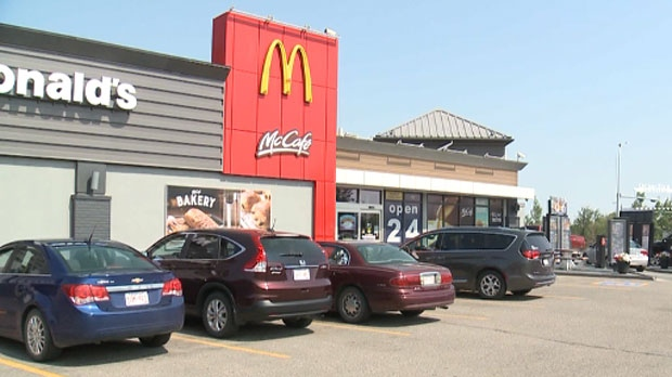 A Lethbridge woman is okay after she mistakenly drank cleaning solution that was in her latte that she ordered at a McDonald's drive-thru.