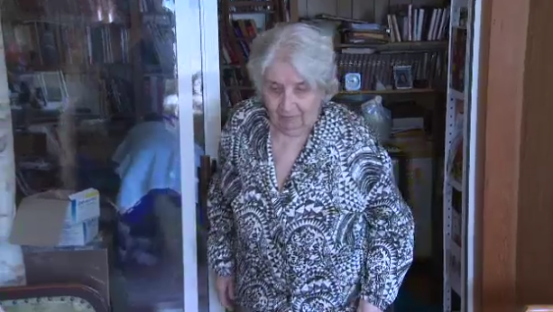 Anna Stady, 95, says she discovered a black bear inside of her kitchen twice in one day.