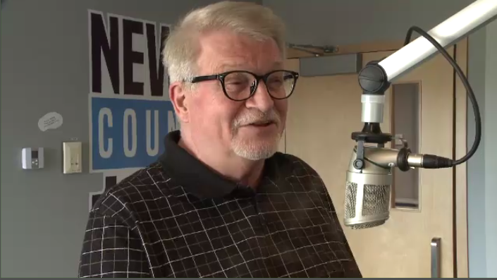 """""""I came up here not expecting to stay, and fell in love with the people, the area, everything about Cape Breton Island,"""" says Jay Bedford, the music director and an announcer at New Country 103.5 in Sydney, N.S."""