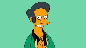 "This image released by Fox shows the character Apu, an Indian shop owner featured on ""The Simpsons,"" animated series. (Fox)"