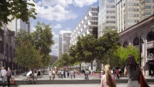 The McGill College Ave. promenade is expected to be completed by 2021.