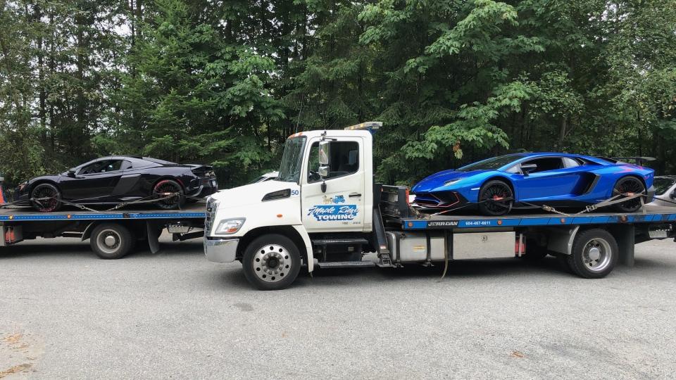 Lamborghini and McLaren impounded