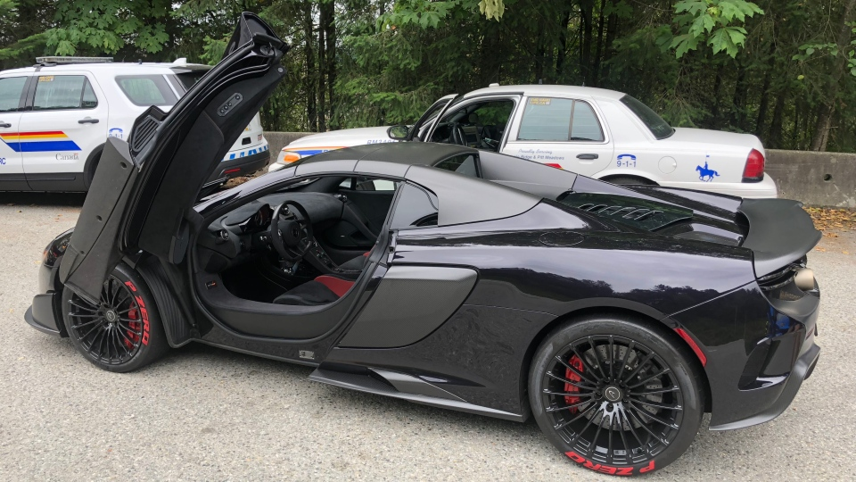 A McLaren that was impounded in Maple Ridge on Aug. 2, 2018 is seen in this image provided by the RCMP.